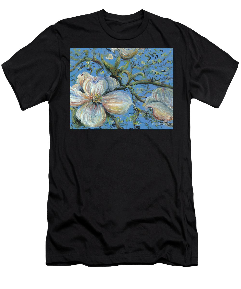 Flower Men's T-Shirt (Athletic Fit) featuring the painting Spring Blossoms by Nadine Rippelmeyer