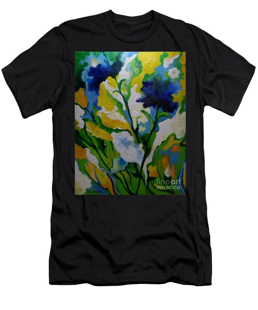 Flowers Men's T-Shirt (Athletic Fit) featuring the painting Spring Delight by Alison Caltrider