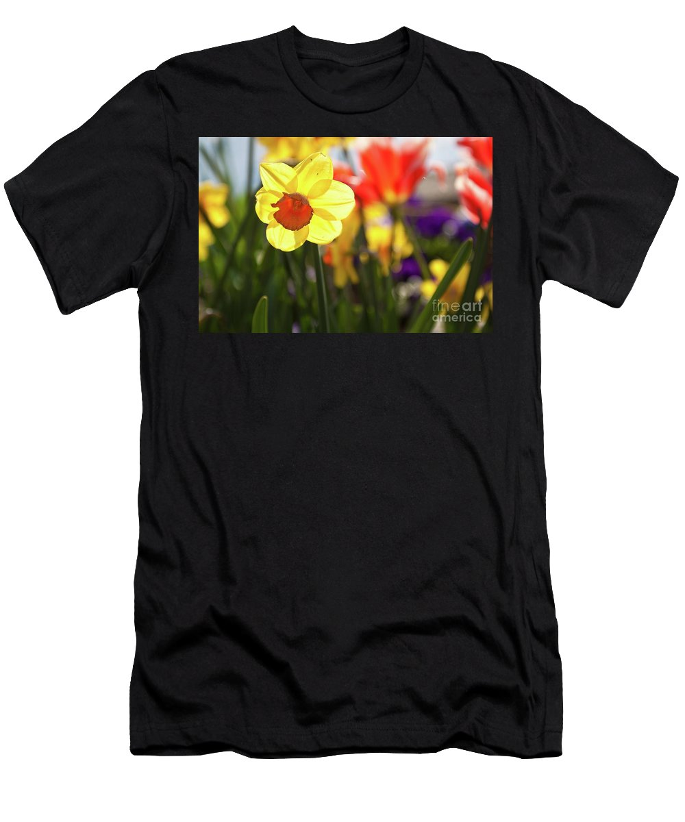 Spring Men's T-Shirt (Athletic Fit) featuring the photograph Spring Flowers by Tatiana Travelways