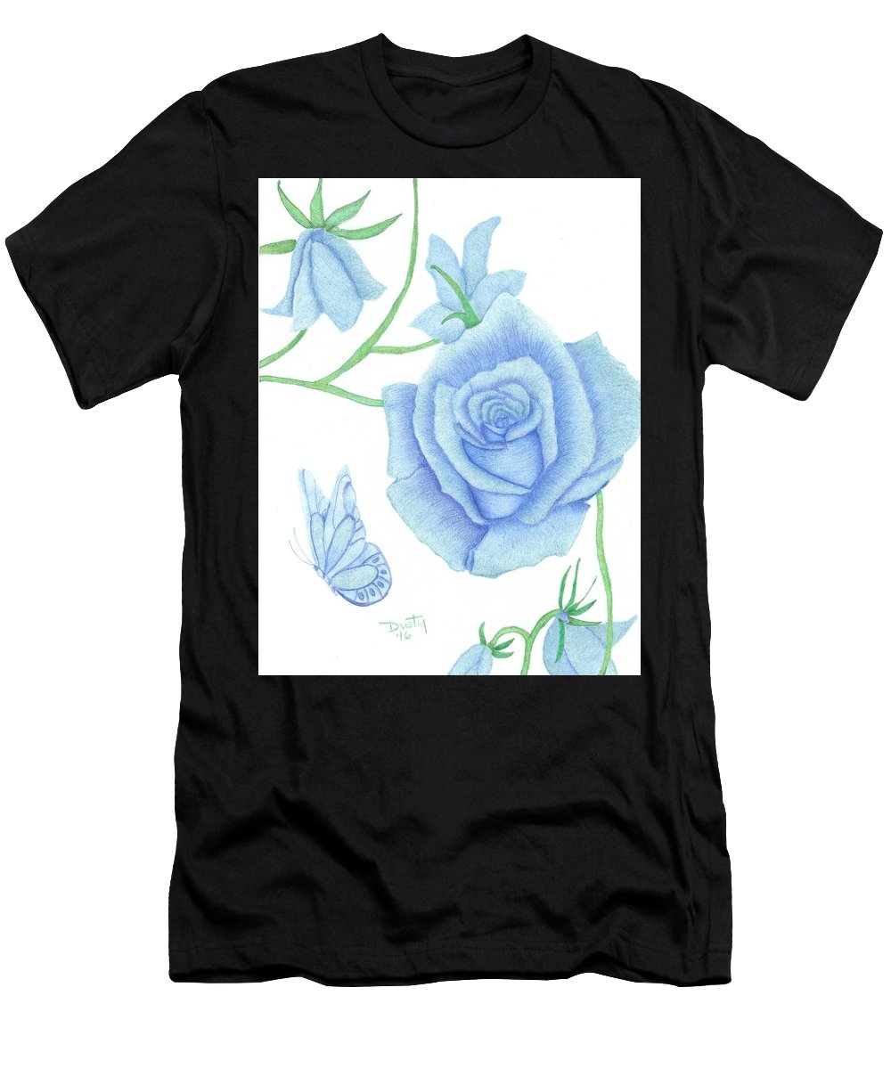 Rose Men's T-Shirt (Athletic Fit) featuring the drawing Spring Fresh by Dusty Reed