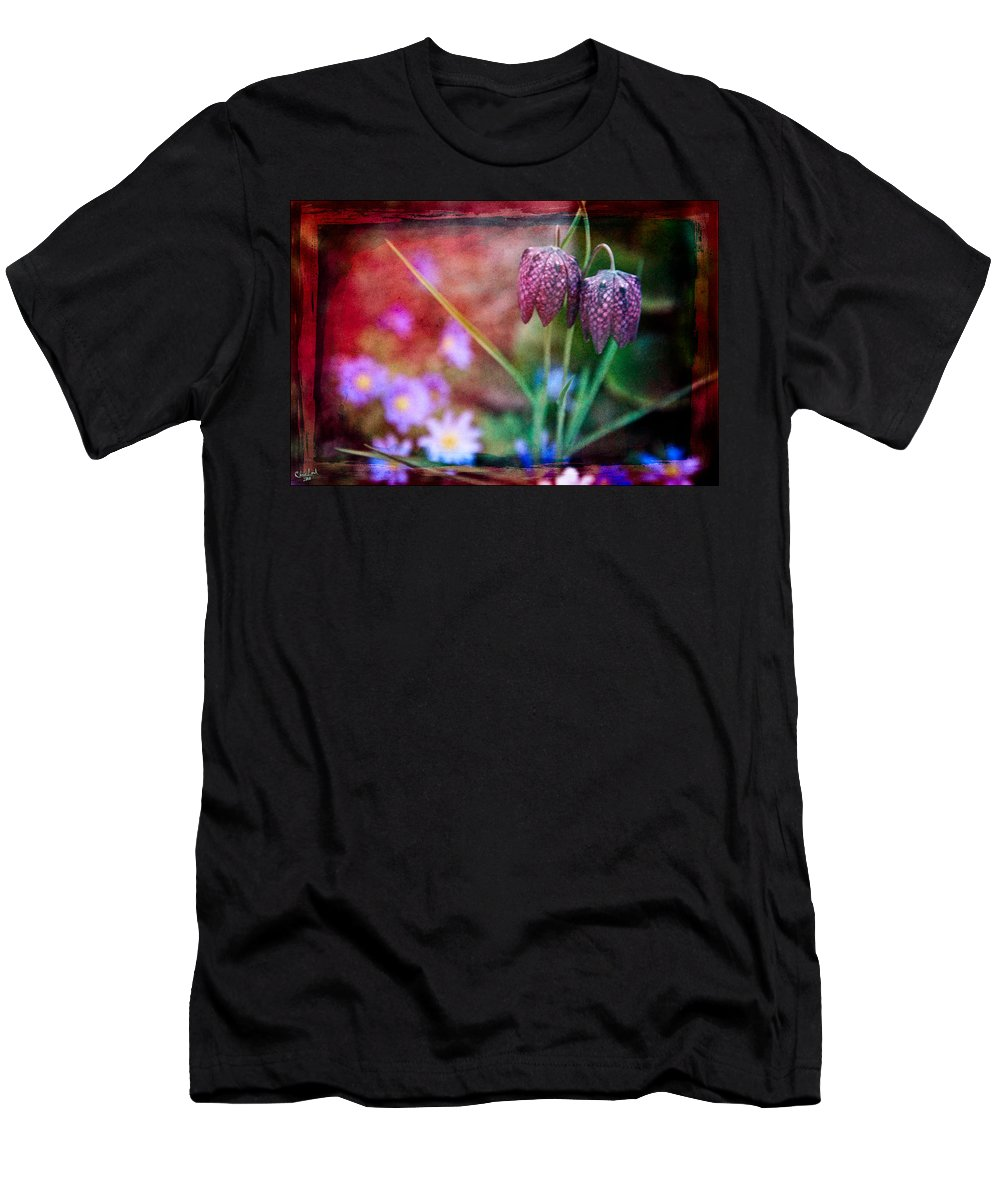 Bloom Men's T-Shirt (Athletic Fit) featuring the digital art Spring Garden by Chris Lord