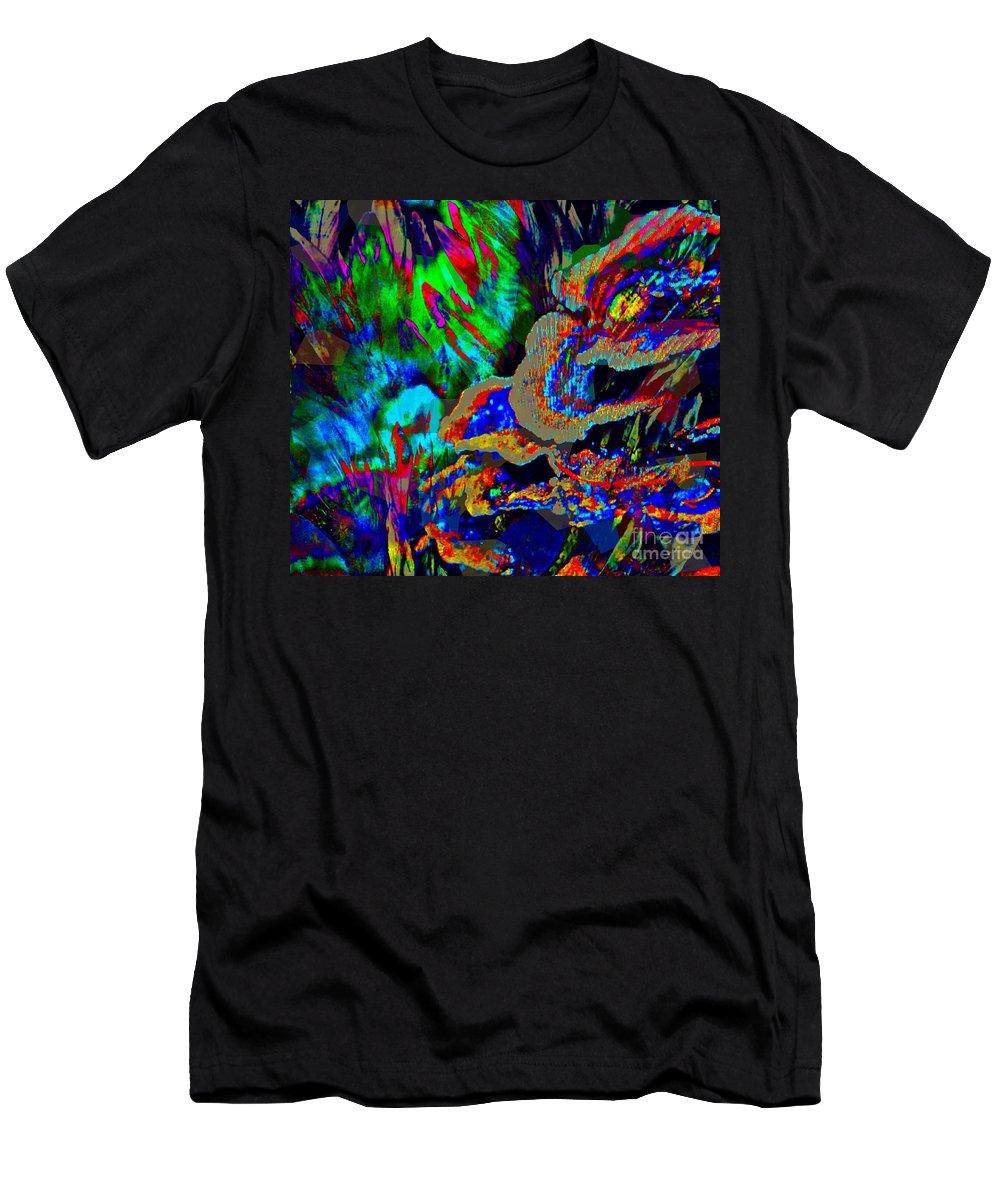Fania Simon Men's T-Shirt (Athletic Fit) featuring the mixed media Spring Garden Festival by Fania Simon