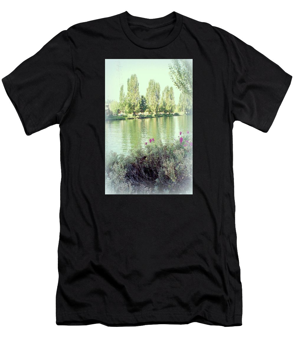 Springtime Men's T-Shirt (Athletic Fit) featuring the photograph Spring In Bloom by Maro Kentros