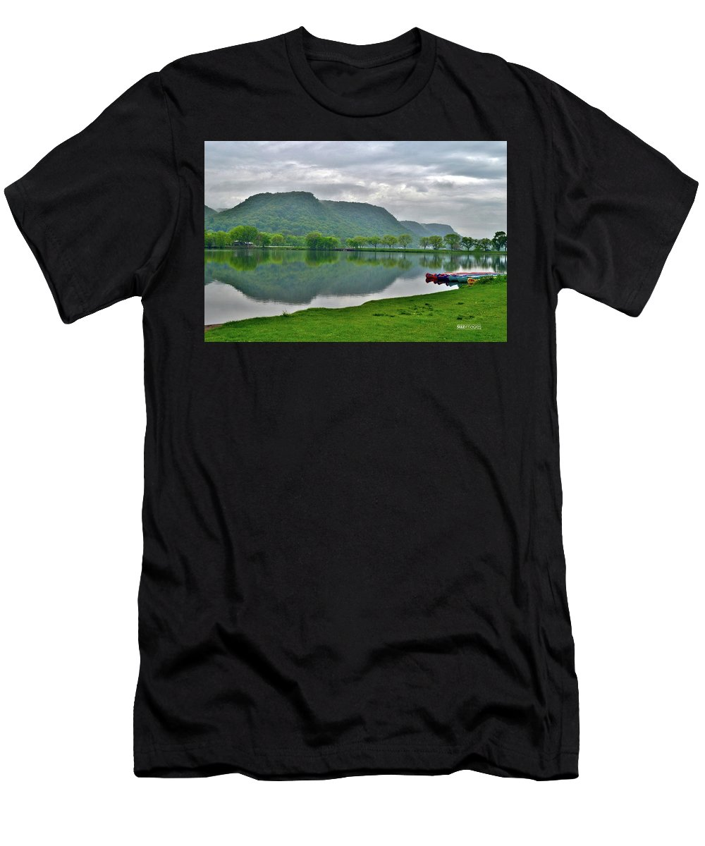 Lake Winona Men's T-Shirt (Athletic Fit) featuring the photograph Spring Lake by Susie Loechler
