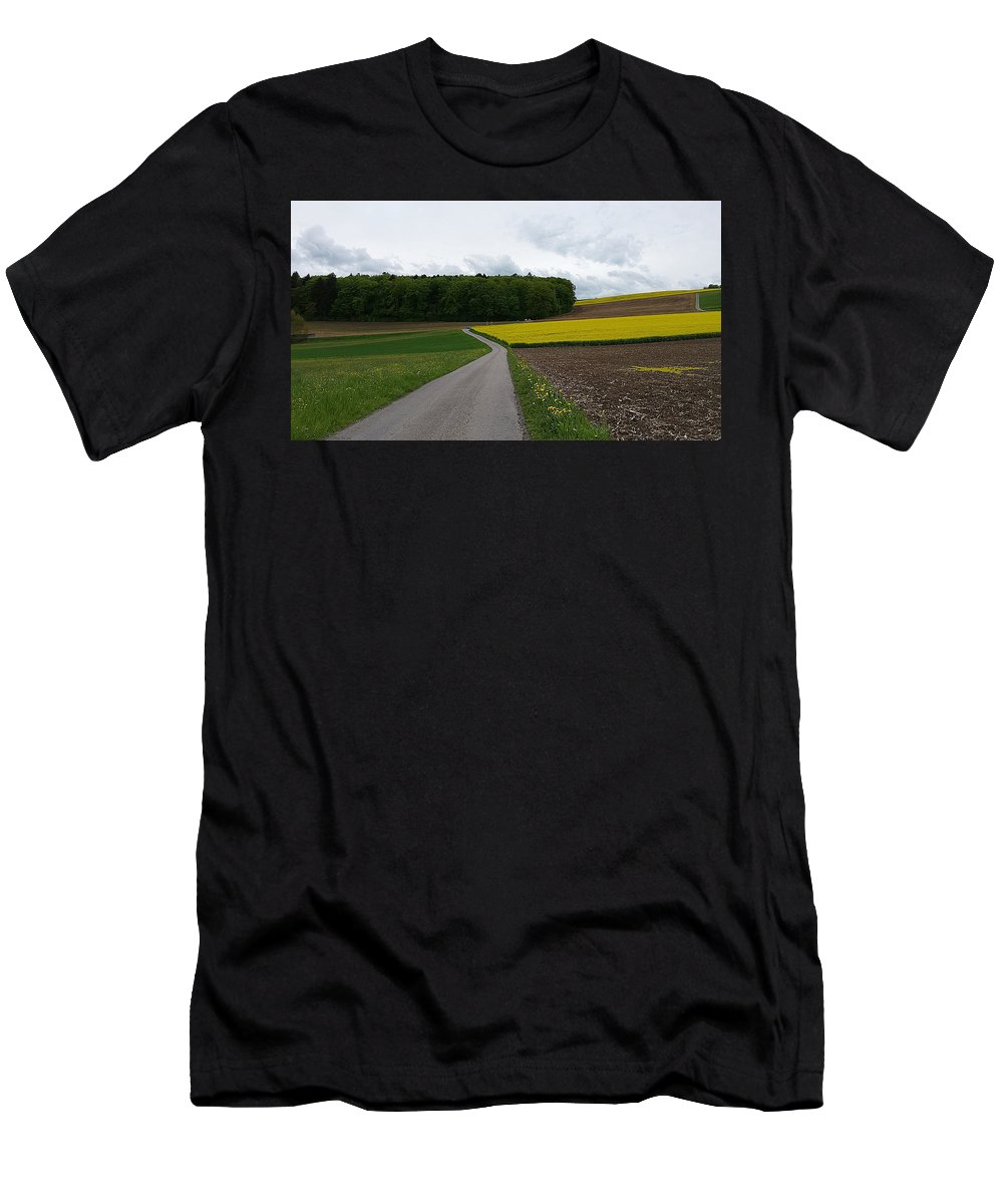 Landscape Men's T-Shirt (Athletic Fit) featuring the photograph Spring Lines by Felicia Tica