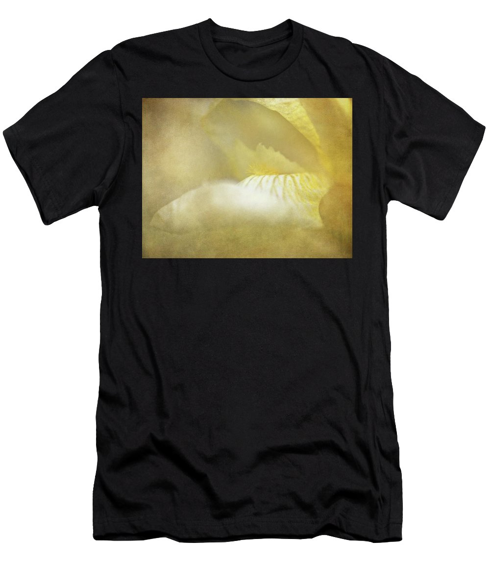 Iris Men's T-Shirt (Athletic Fit) featuring the photograph Nectar Of Spring by Chris Fleming