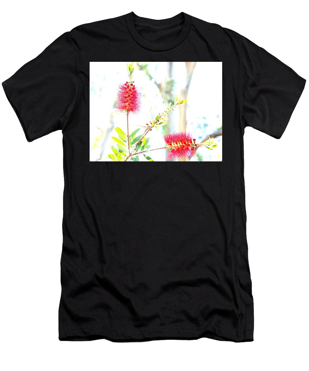 Bottlebrush Men's T-Shirt (Athletic Fit) featuring the photograph Spring Pastel by Yuri Tomashevi