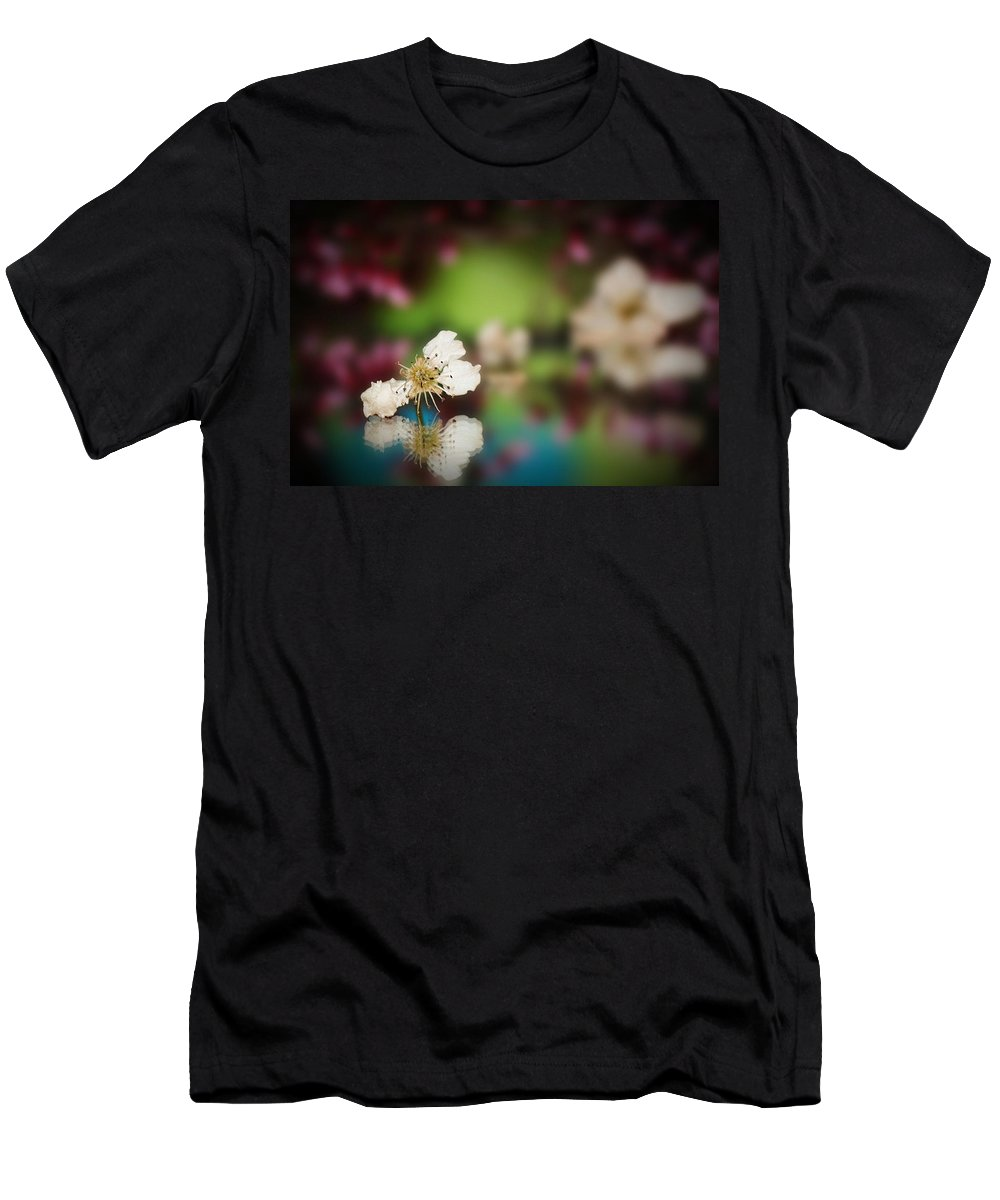 Spring Men's T-Shirt (Athletic Fit) featuring the photograph Spring Reflections-3 by Kristine Nichols