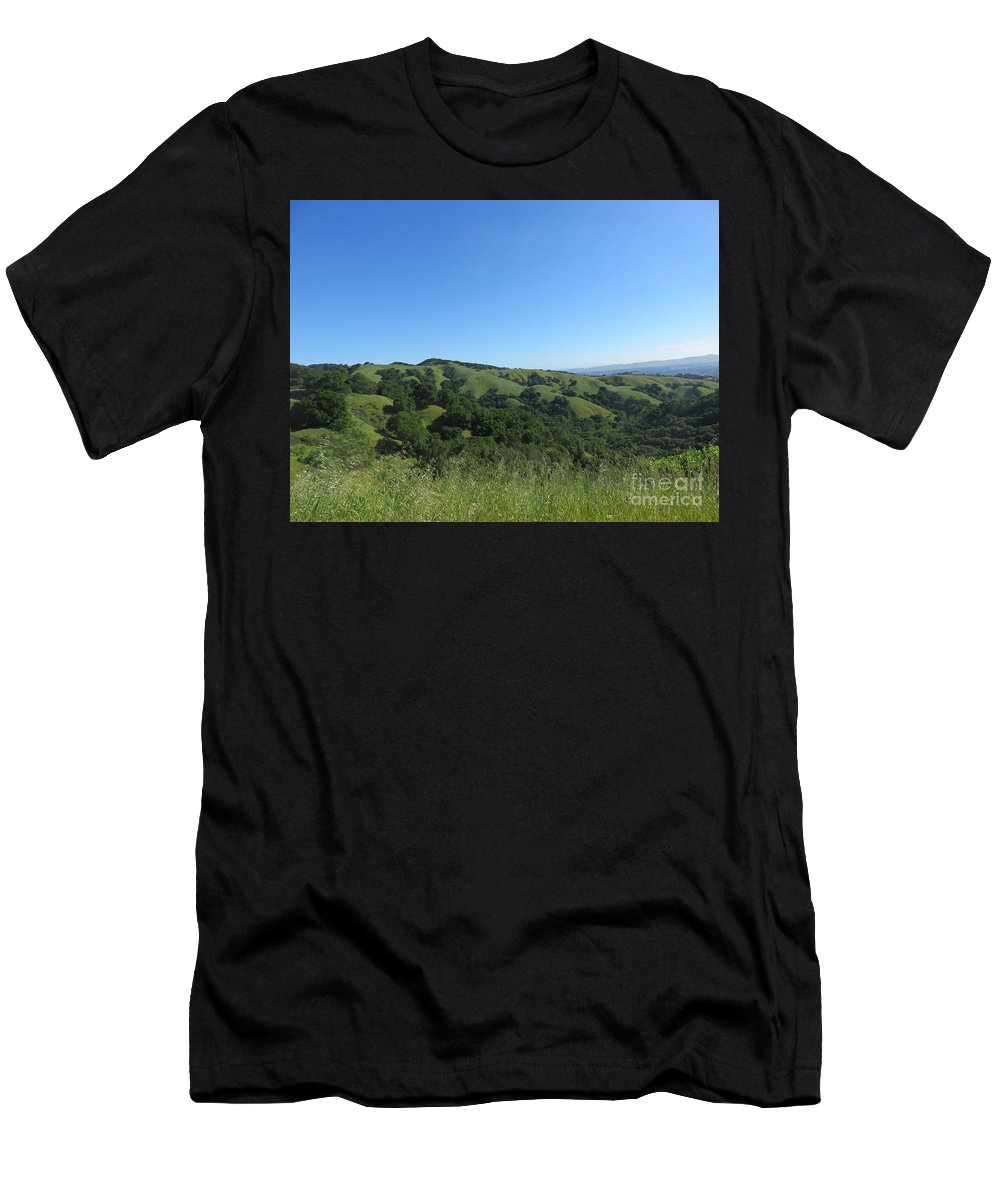 Landscape Men's T-Shirt (Athletic Fit) featuring the photograph Spring Ridge by Suzanne Leonard