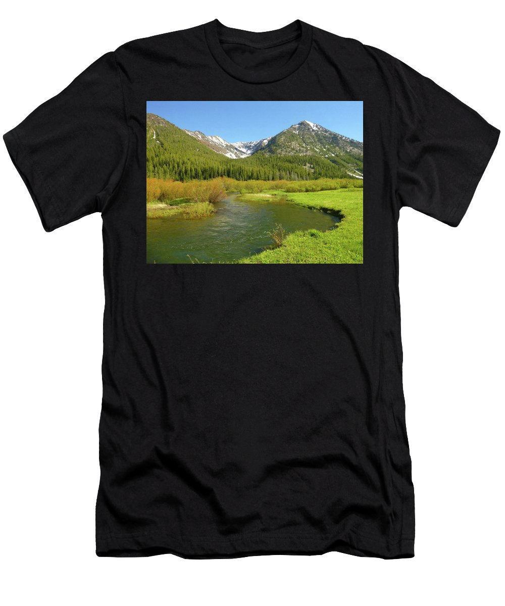 Idaho Men's T-Shirt (Athletic Fit) featuring the photograph Spring Run Off by Dan Dixon