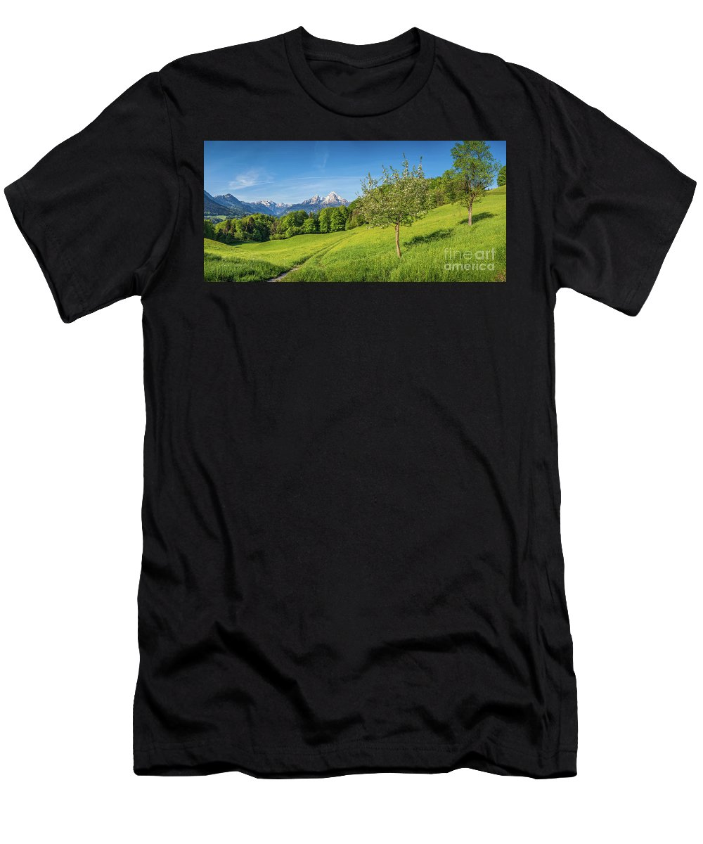 Alpine Men's T-Shirt (Athletic Fit) featuring the photograph Beauty In Your Hands by JR Photography