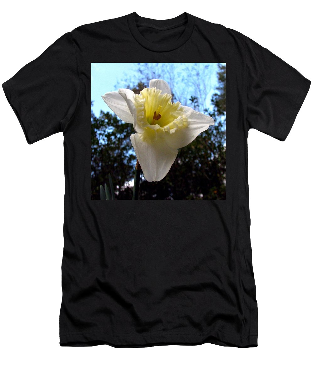 Daffodil Men's T-Shirt (Athletic Fit) featuring the photograph Spring's First Daffodil 2 by J M Farris Photography