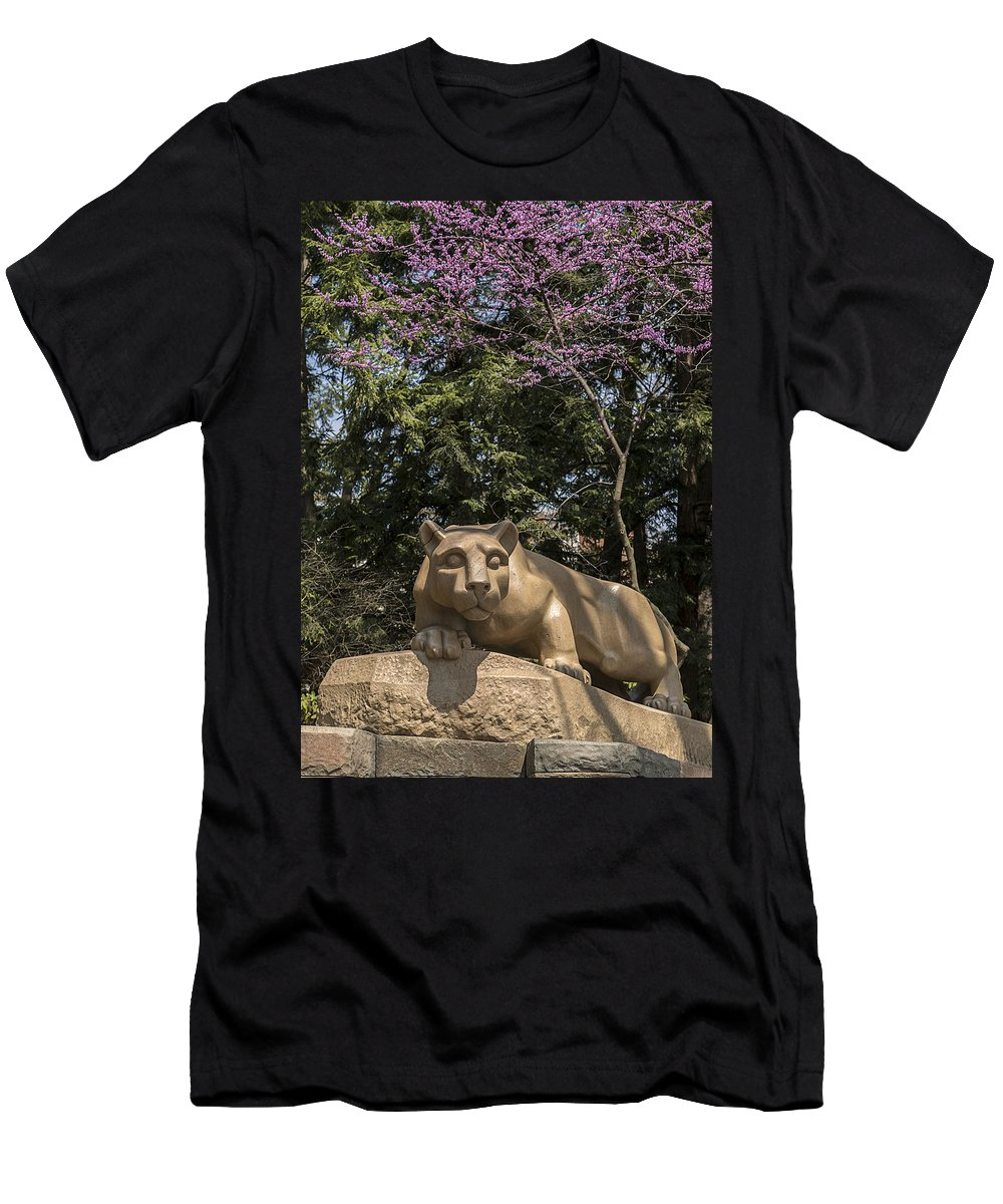 Psu Men's T-Shirt (Athletic Fit) featuring the photograph Springtime At The Lion Shrine by Rusty Glessner