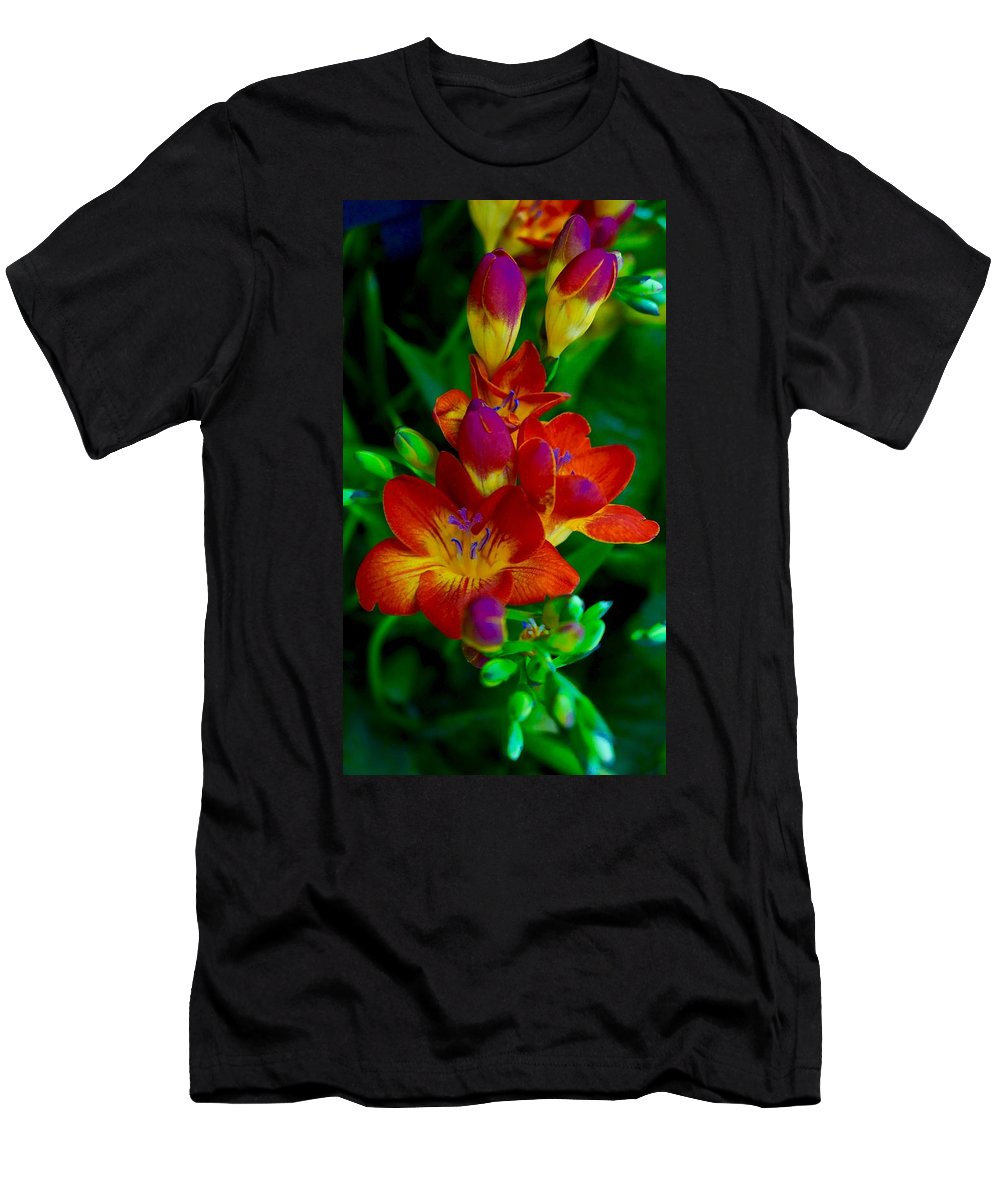Blooms Men's T-Shirt (Athletic Fit) featuring the photograph Springtime Happiness by Tim G Ross