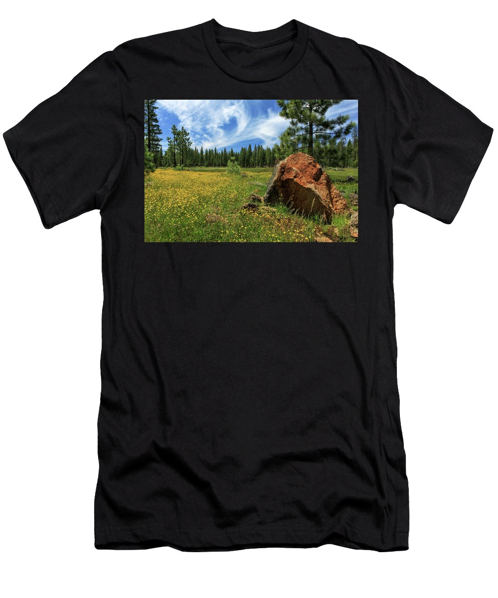 Landscape Men's T-Shirt (Athletic Fit) featuring the photograph Springtime In Lassen County by James Eddy