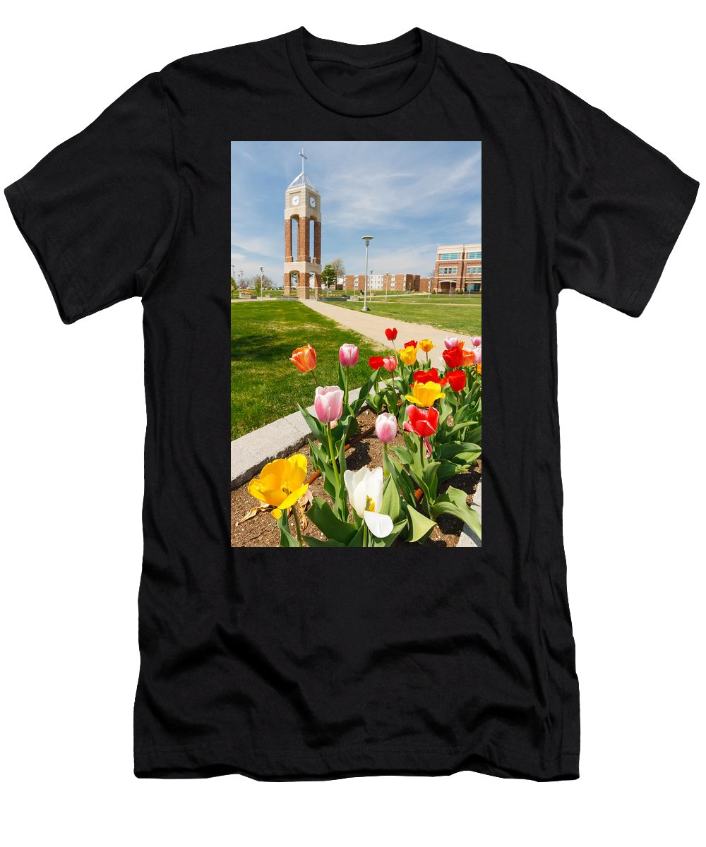 Colorful Men's T-Shirt (Athletic Fit) featuring the photograph Springtime Tulips by Spirit Vision Photography