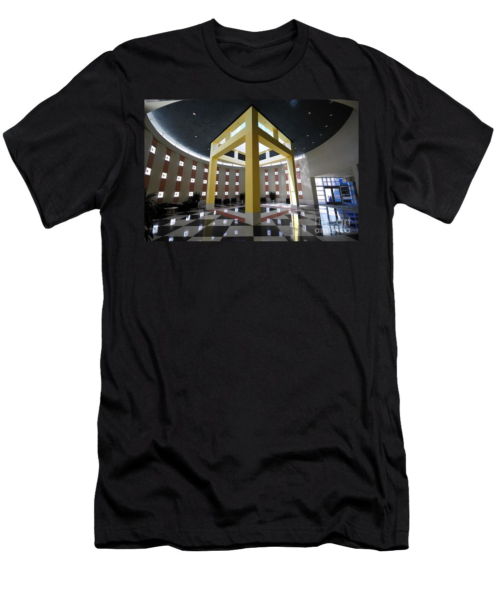 Fine Art Photography Men's T-Shirt (Athletic Fit) featuring the photograph Square Peg Round Hole by David Lee Thompson