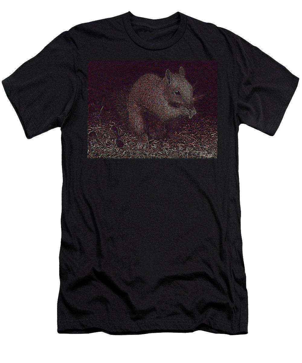 Jenny Gandert Men's T-Shirt (Athletic Fit) featuring the photograph Squirrely Art by Jenny Gandert
