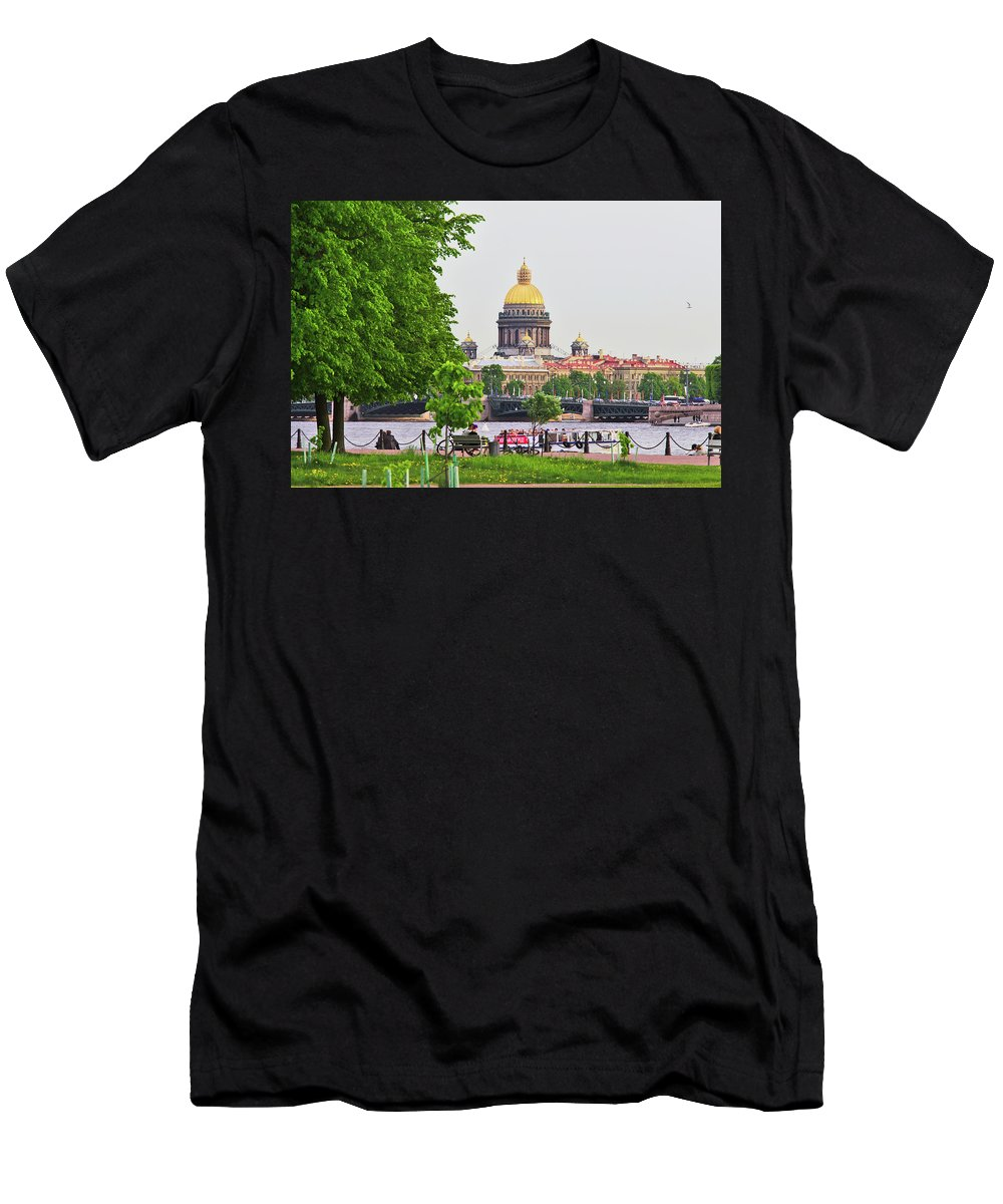 City Men's T-Shirt (Athletic Fit) featuring the photograph St. Isaac's Cathedral. Saint Petersburg by Pavel Klyuyev