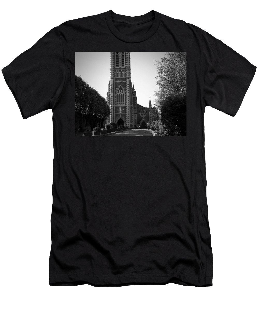Irish Men's T-Shirt (Athletic Fit) featuring the photograph St. John's Church Tralee Ireland by Teresa Mucha