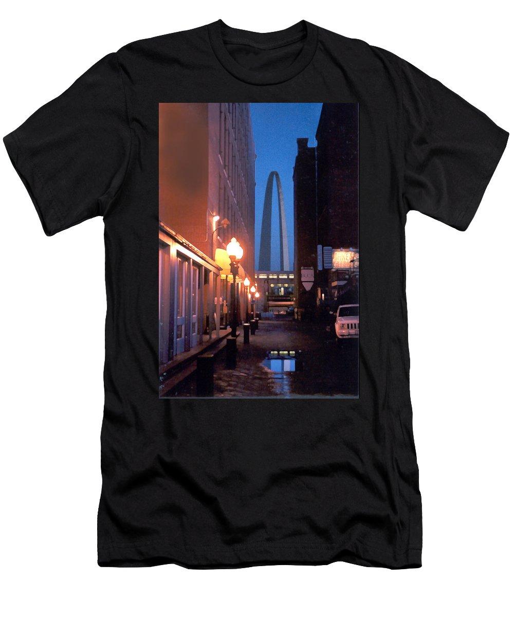 St. Louis Men's T-Shirt (Slim Fit) featuring the photograph St. Louis Arch by Steve Karol