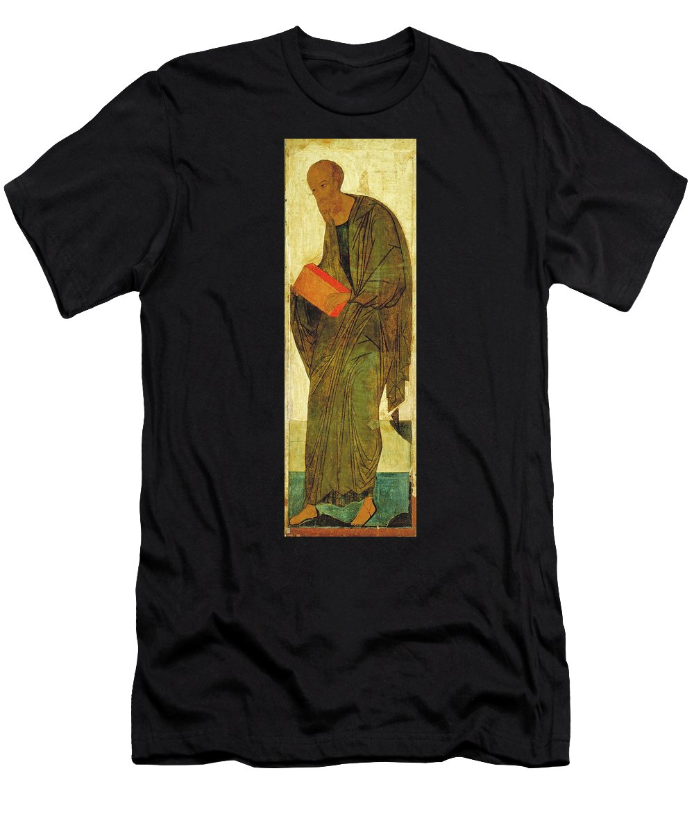 Andrei Rublev Men's T-Shirt (Athletic Fit) featuring the painting St Paul. From Deisus Tier by Andrei Rublev