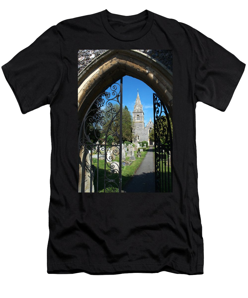 St Men's T-Shirt (Athletic Fit) featuring the photograph St Peters Marlow by Chris Day