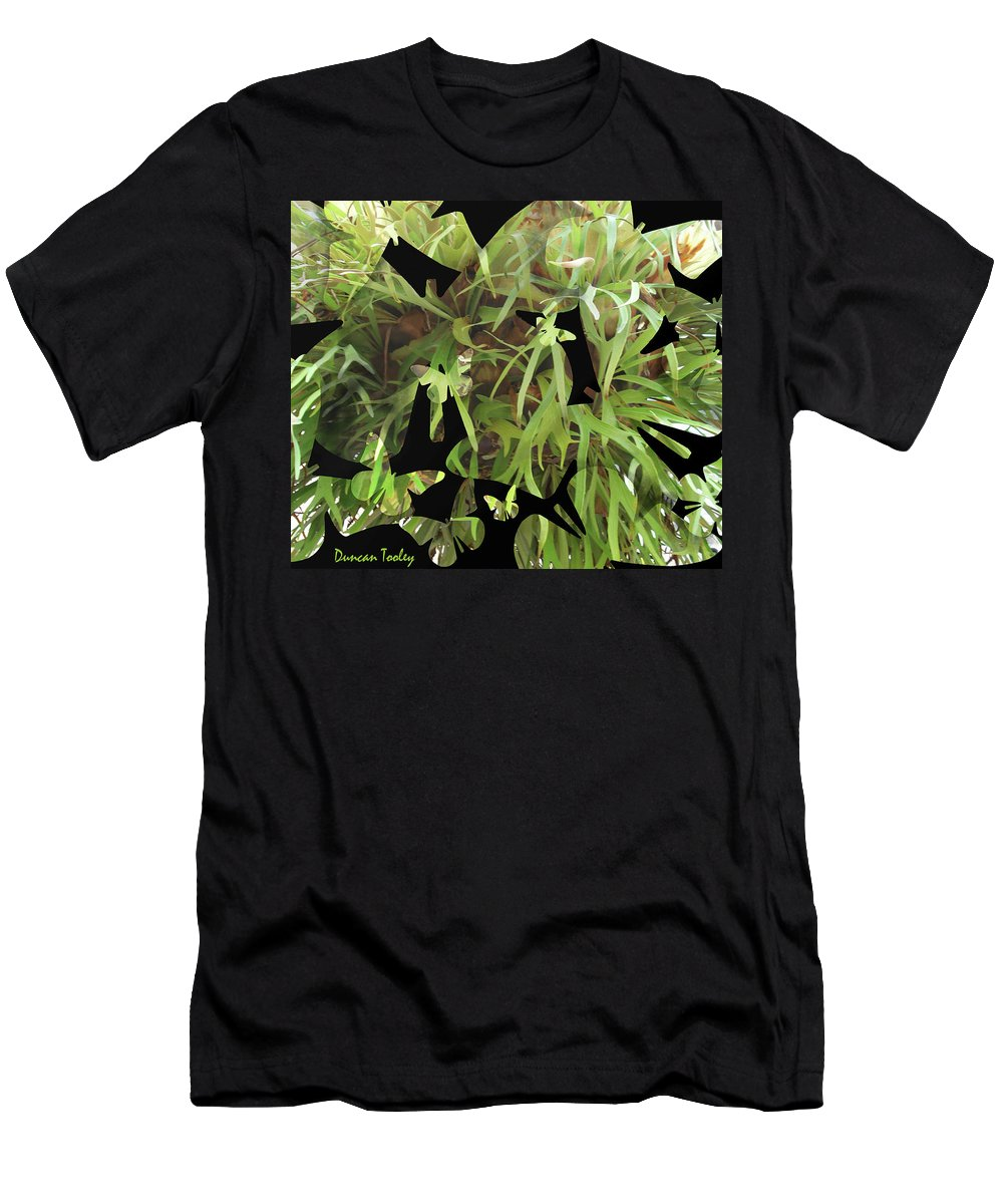 Fractal Men's T-Shirt (Athletic Fit) featuring the photograph Staghorn Butterfly Fractal by Duncan Tooley
