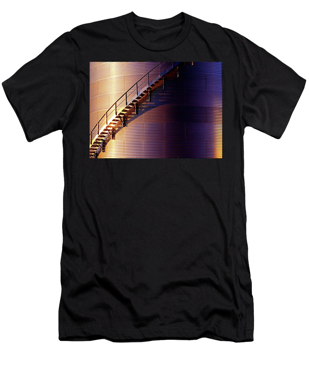 Stairs Men's T-Shirt (Athletic Fit) featuring the photograph Stairway Abstraction by Christopher McKenzie