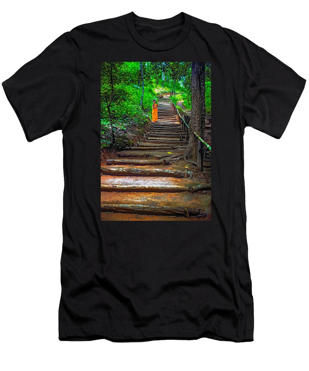 Jungle Men's T-Shirt (Athletic Fit) featuring the photograph Stairway To Heaven by Steve Harrington