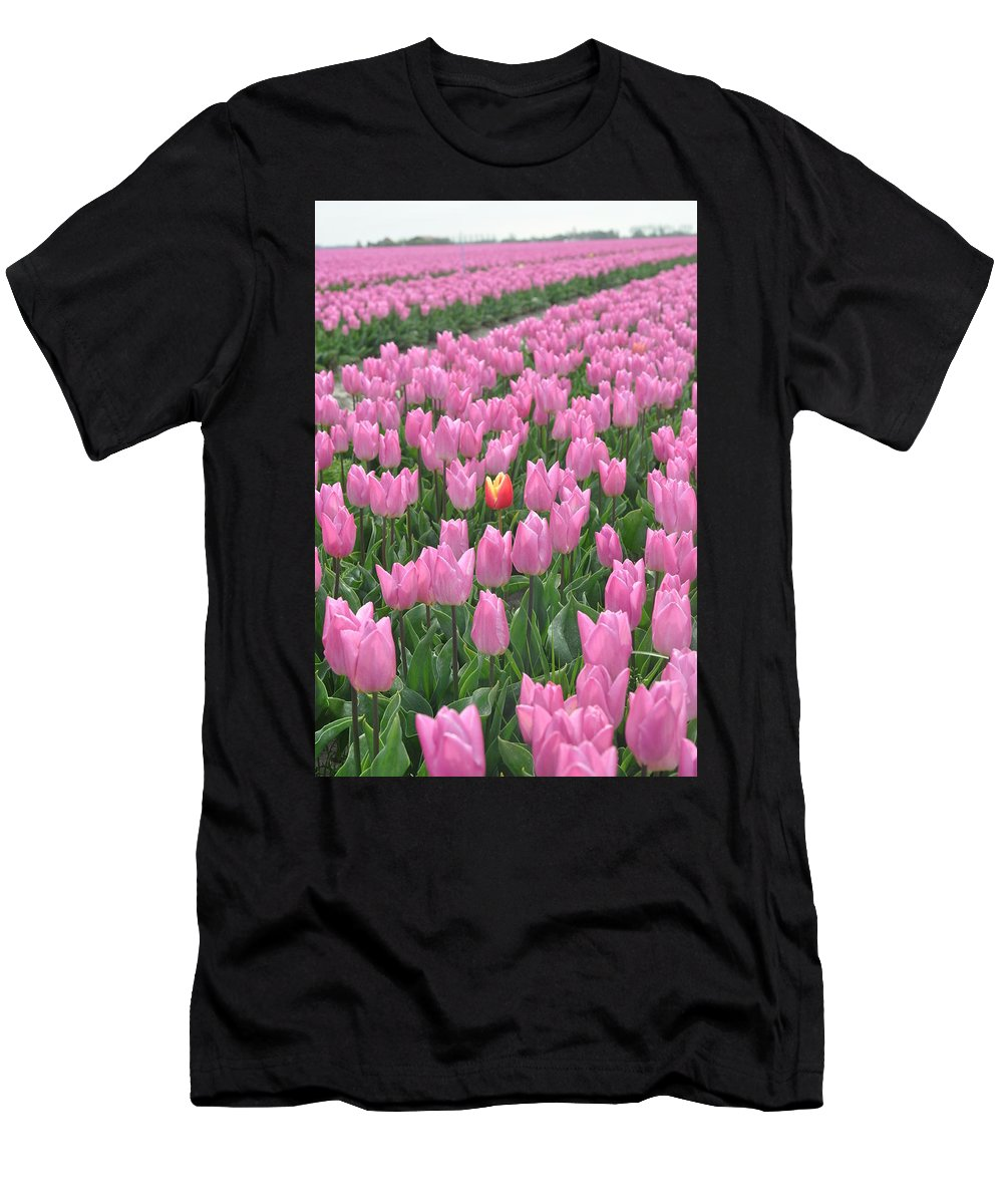 Tulip Men's T-Shirt (Athletic Fit) featuring the photograph Stand Out by Eduard Meinema