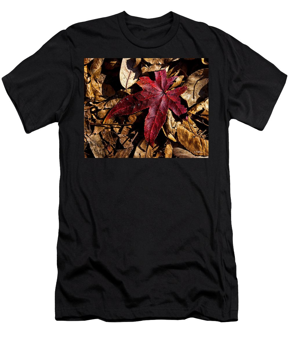 Flora Men's T-Shirt (Athletic Fit) featuring the photograph Stand Out In The Crowd by Christopher Holmes