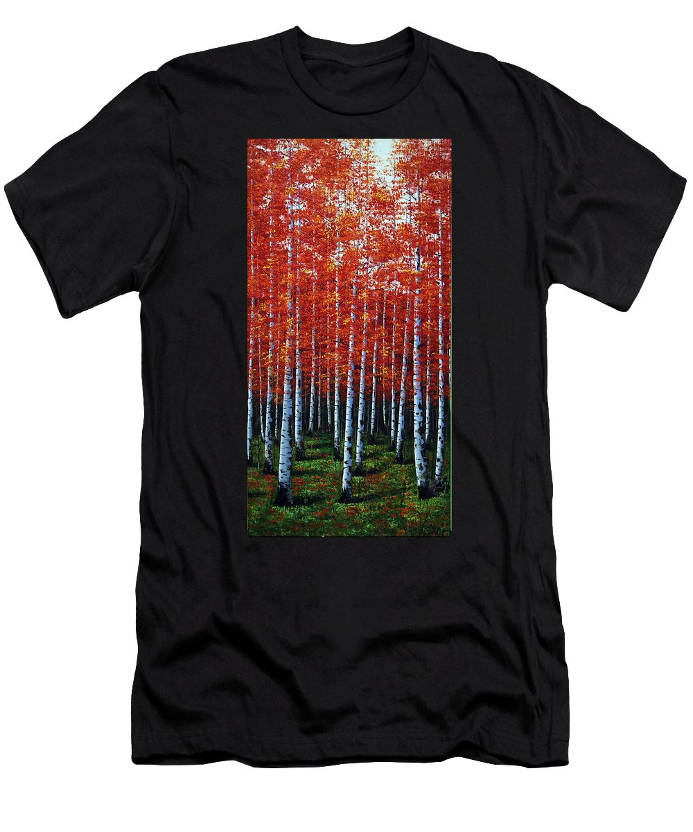 Nature Men's T-Shirt (Athletic Fit) featuring the photograph Standing Tall by Nick Difi