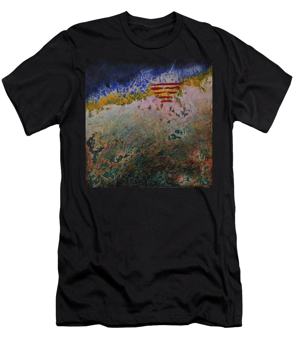 Painting Men's T-Shirt (Athletic Fit) featuring the painting Staple by Jean-luc Lacroix