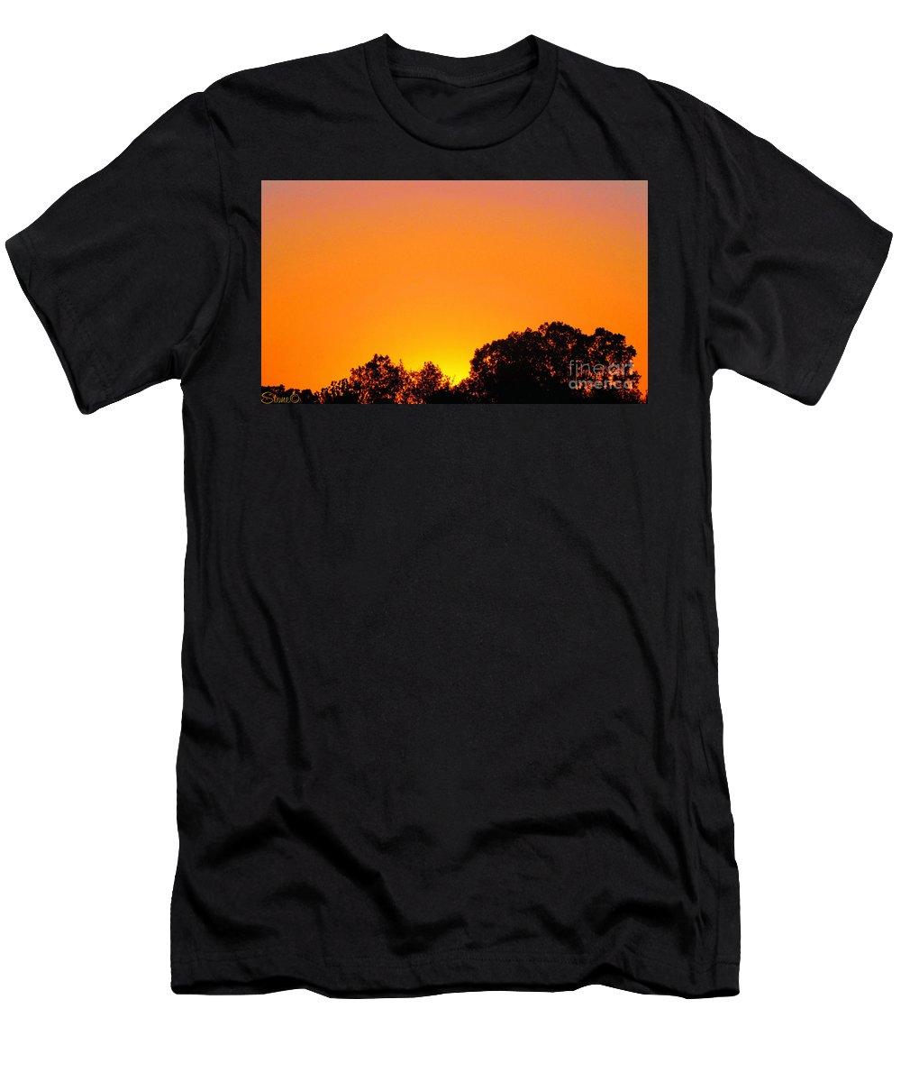Sunrises Men's T-Shirt (Athletic Fit) featuring the photograph Star Burst by September Stone