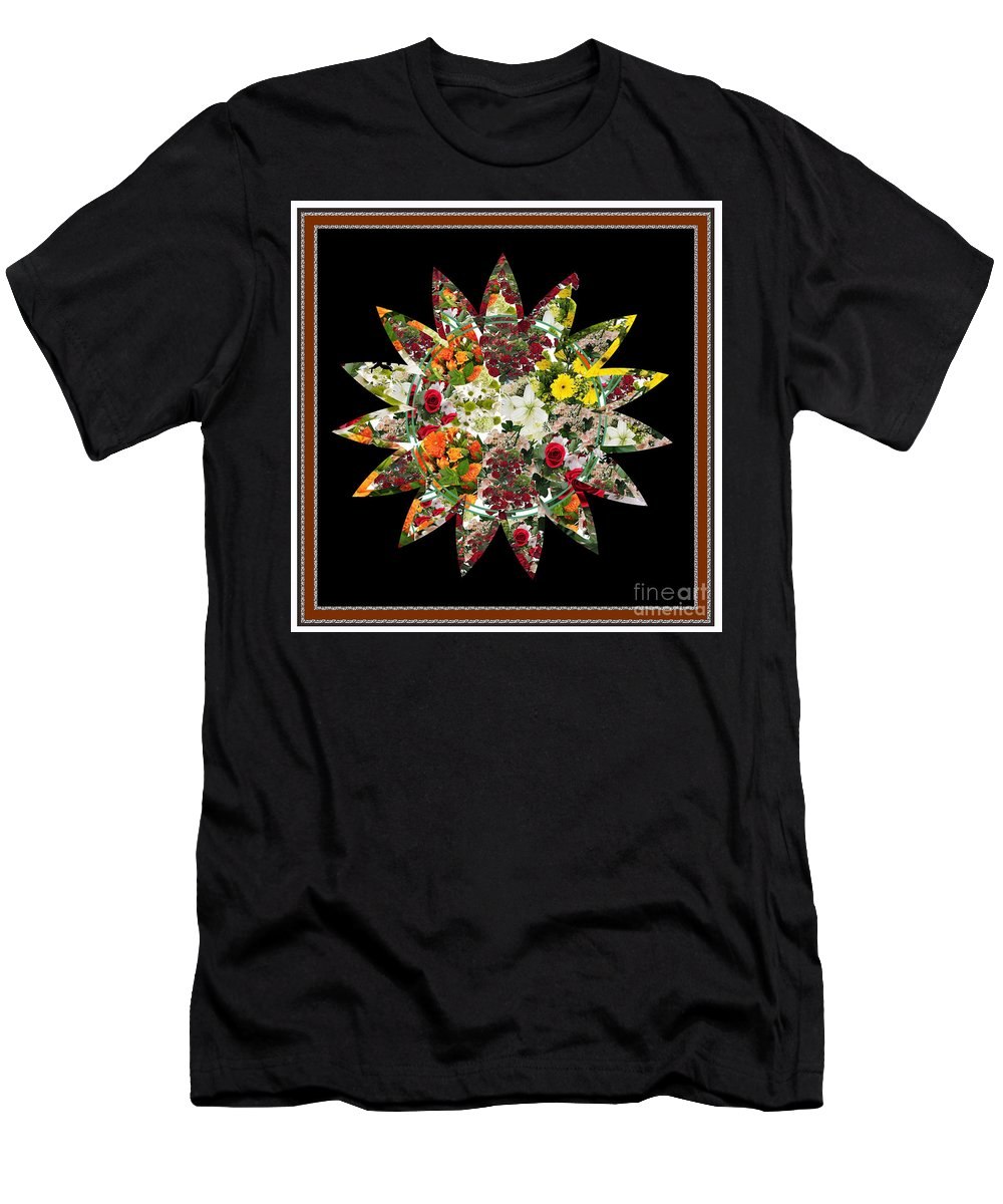 Flower Men's T-Shirt (Athletic Fit) featuring the digital art Star Flower Bouquet Creation By Navinjoshi At Fineartamerica.om Graphics Art  Elegant Interior Deco by Navin Joshi