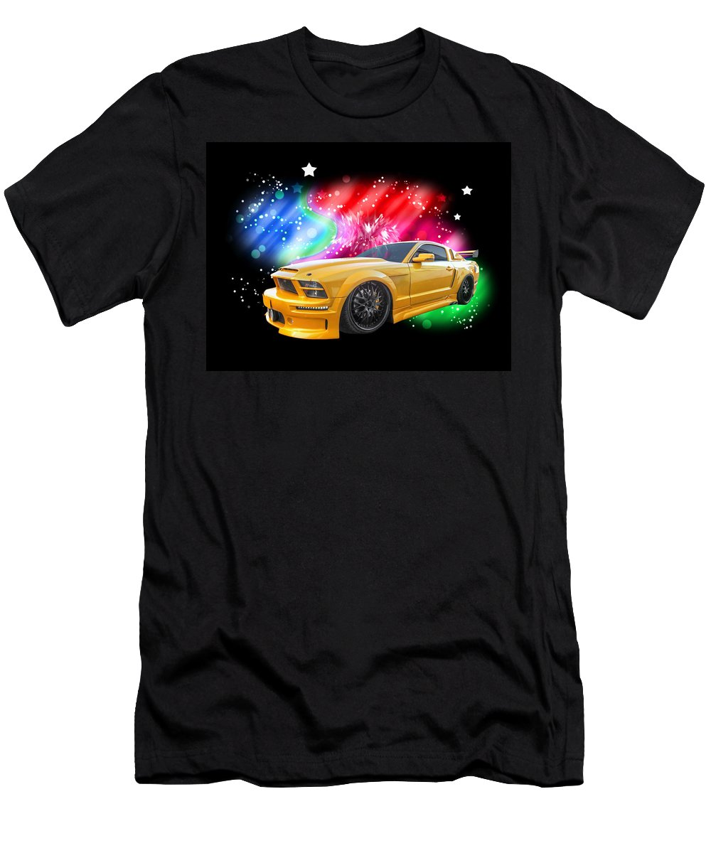 Ford Men's T-Shirt (Athletic Fit) featuring the photograph Star Of The Show - Mustang Gtr by Gill Billington