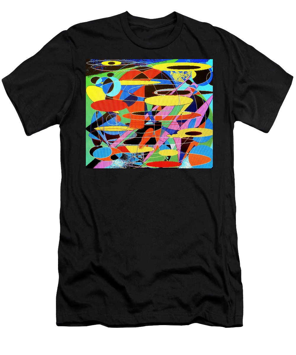 Abstract Men's T-Shirt (Athletic Fit) featuring the digital art Star Wars by Ian MacDonald
