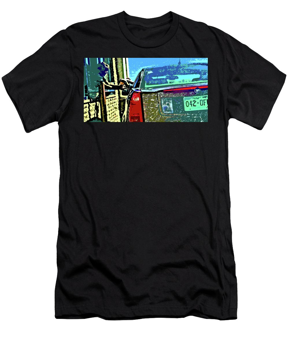 Abstract Men's T-Shirt (Athletic Fit) featuring the digital art Starbucks 5 by Lenore Senior