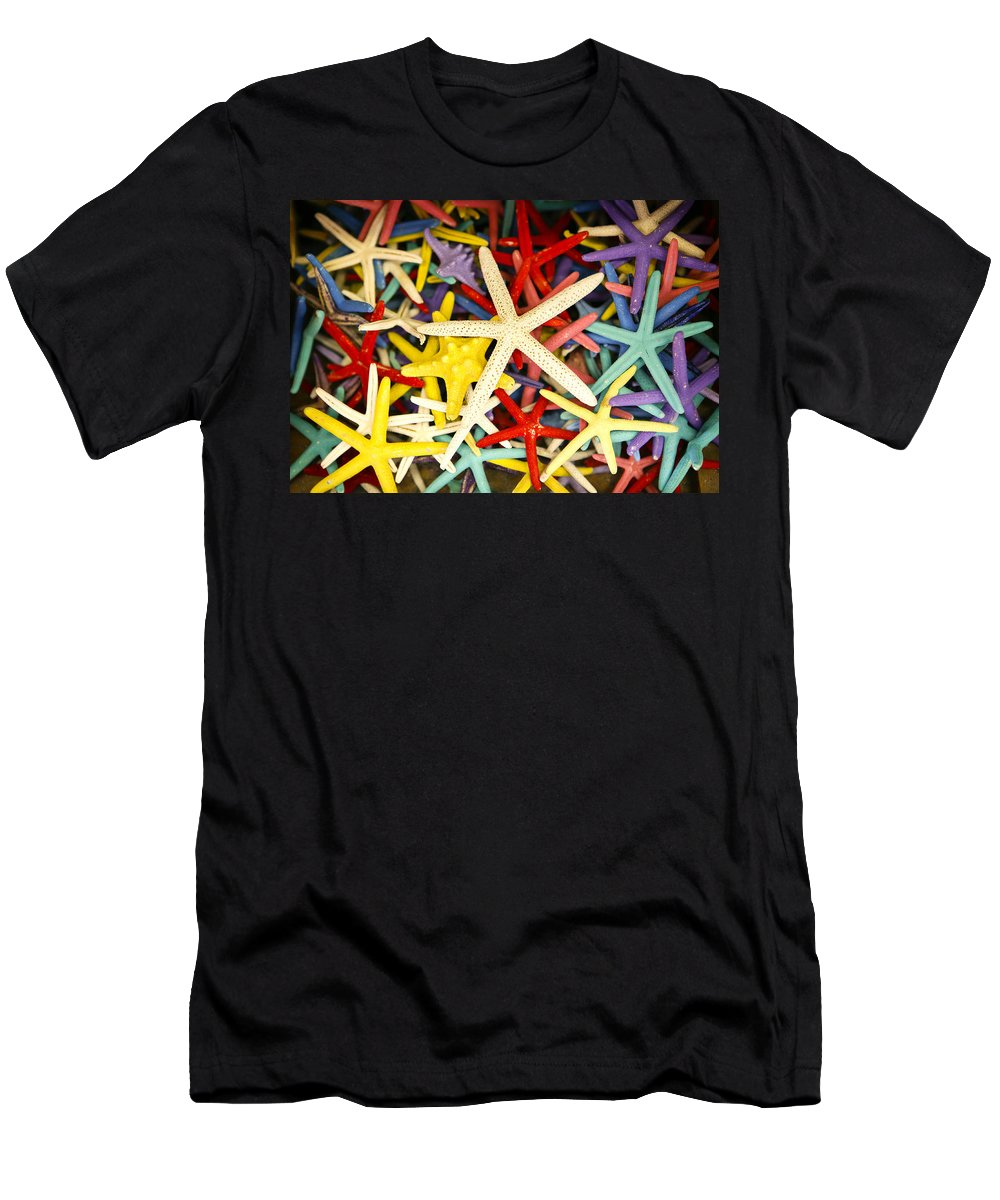 Starfish Men's T-Shirt (Athletic Fit) featuring the photograph Starfish Dressed Up by Marilyn Hunt