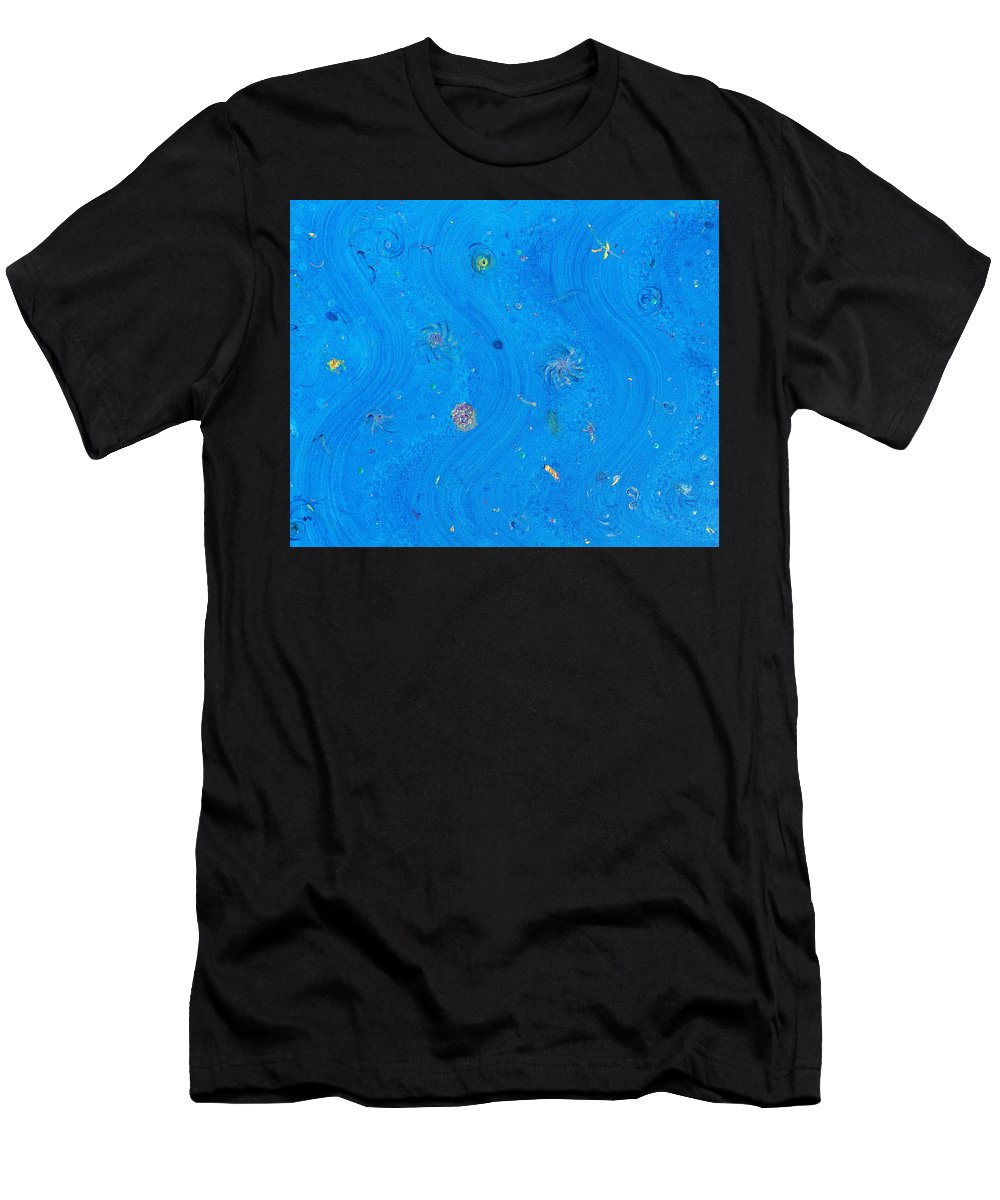 Star Men's T-Shirt (Athletic Fit) featuring the painting Starry Sea Of Sky by Dawn Richerson