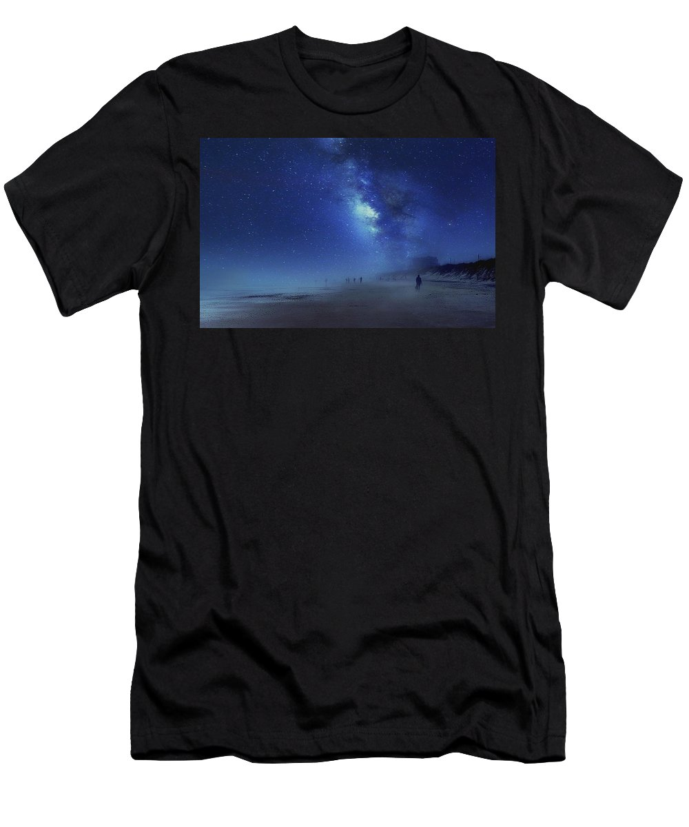 Beach Men's T-Shirt (Athletic Fit) featuring the photograph Stars In The Sky by Patricia Black