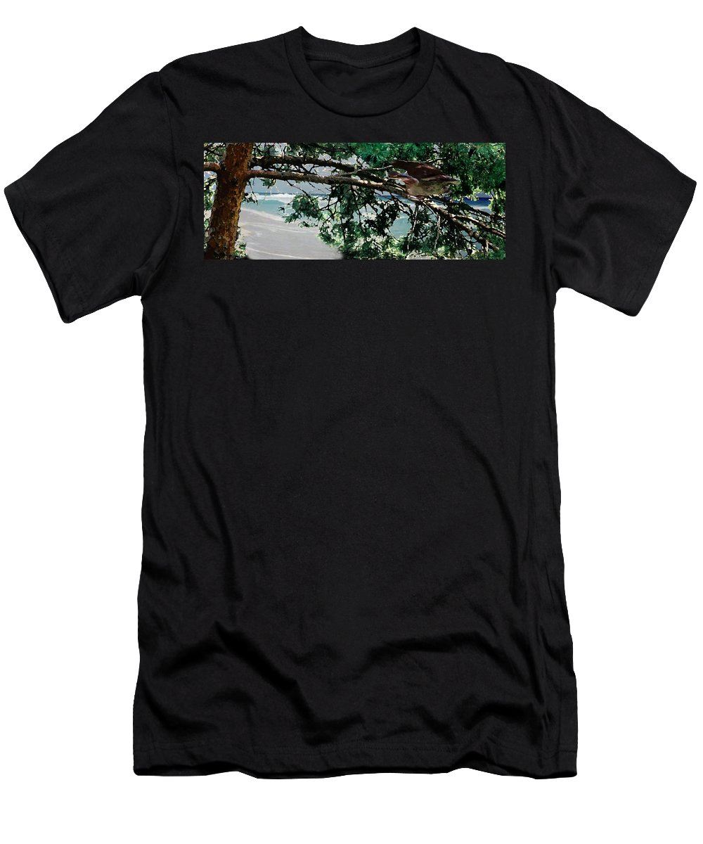Landscape Men's T-Shirt (Athletic Fit) featuring the painting Stealth by Steve Karol