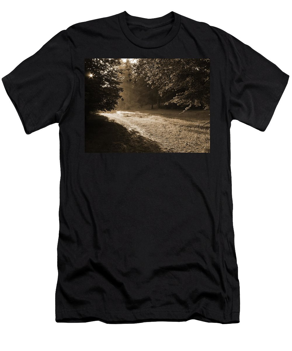 Light Men's T-Shirt (Athletic Fit) featuring the photograph Step Out Of The Shadow by Daniel Csoka