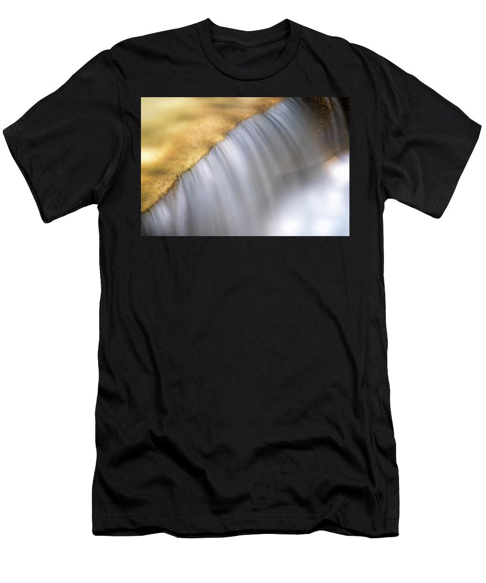 Stickney Brook Men's T-Shirt (Athletic Fit) featuring the photograph Stickney Brook In Spring by Tom Singleton