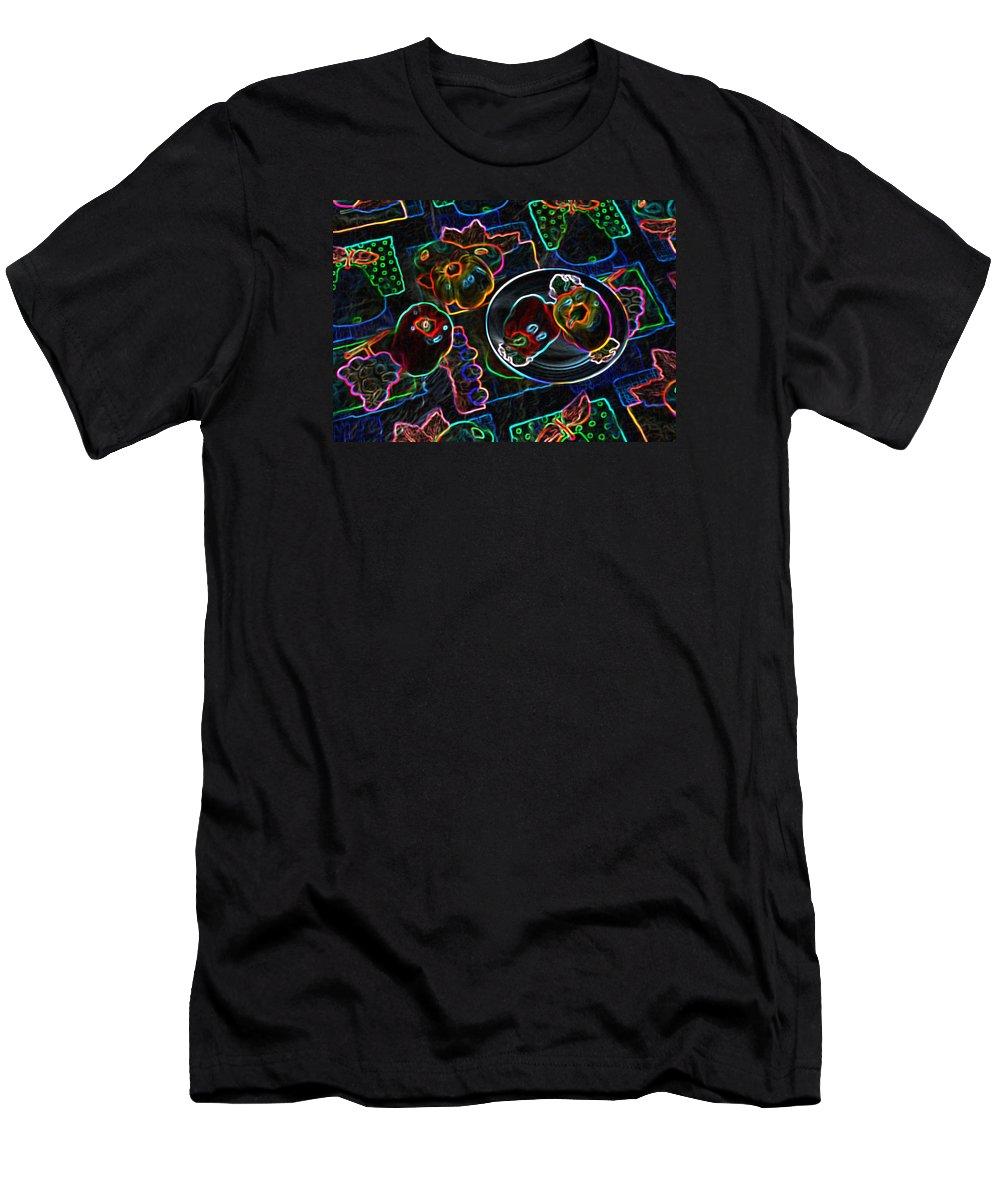 Still Life Men's T-Shirt (Athletic Fit) featuring the digital art Still Life D by Iliyan Bozhanov