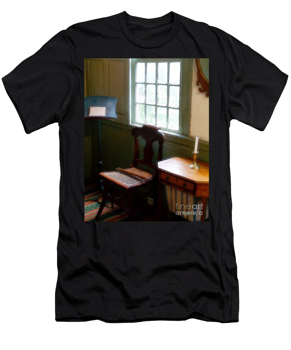 Still Life Men's T-Shirt (Athletic Fit) featuring the painting Still Life, Stevens House by RC DeWinter