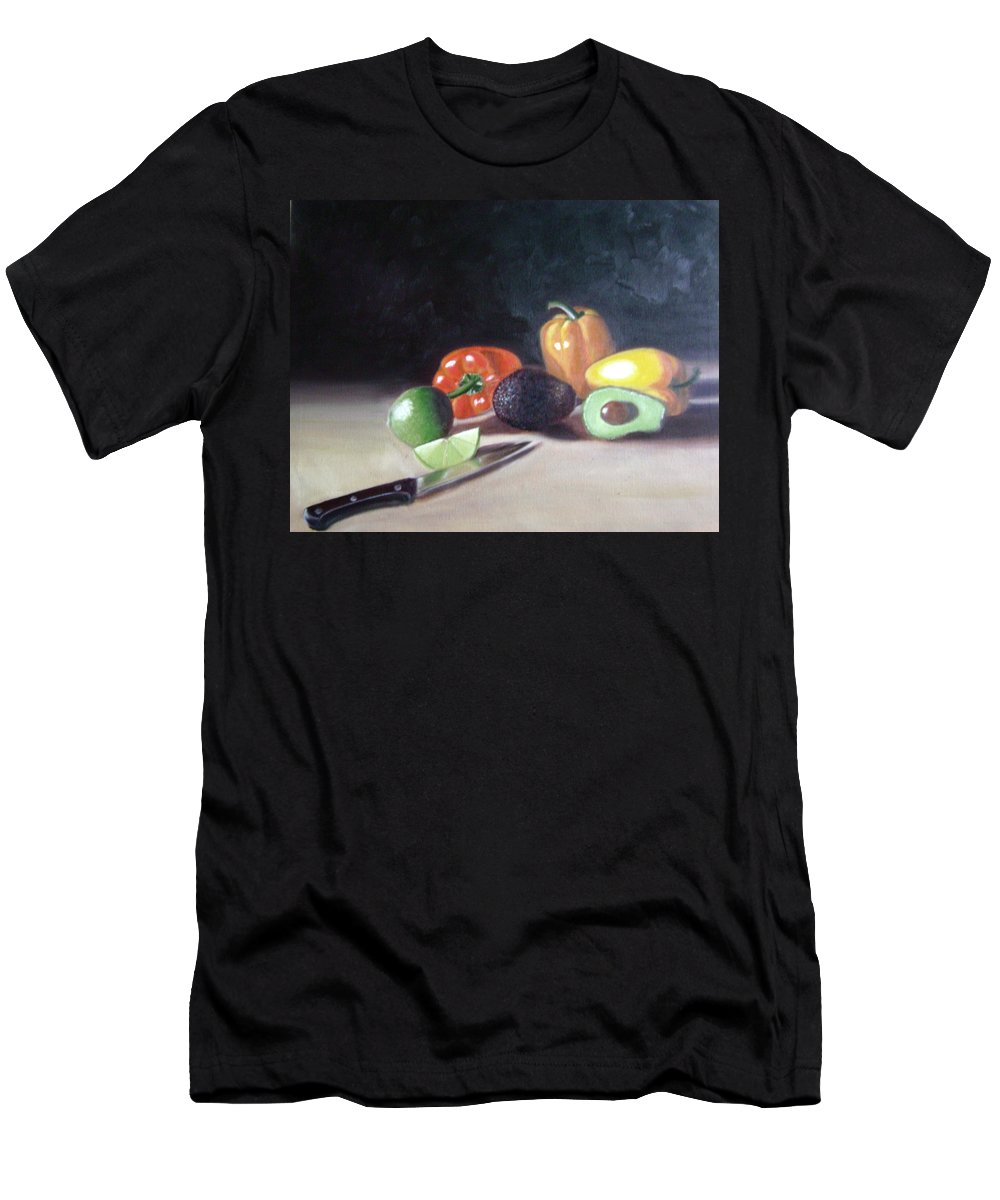 Men's T-Shirt (Athletic Fit) featuring the painting Still-life by Toni Berry