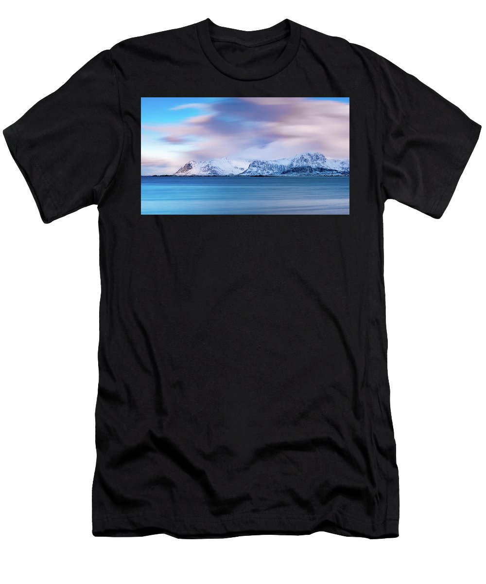 Norway Men's T-Shirt (Athletic Fit) featuring the photograph Still Mountains by Adrian Salcu