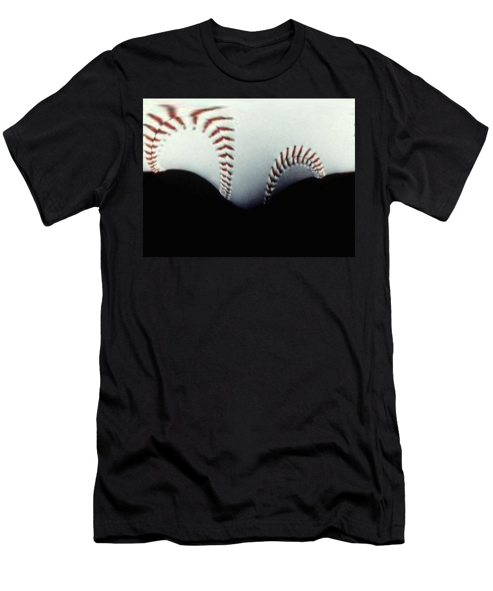 Baseball Men's T-Shirt (Athletic Fit) featuring the photograph Stitches Of The Game by Tim Allen